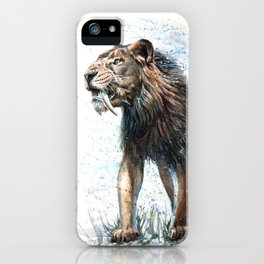 Smilodon - The last of the best.. iPhone Case