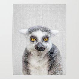 Lemur - Colorful Poster