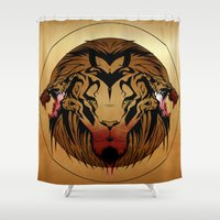 wildlife Shower Curtains featuring wildlife unleashed by Christophe Chiozzi