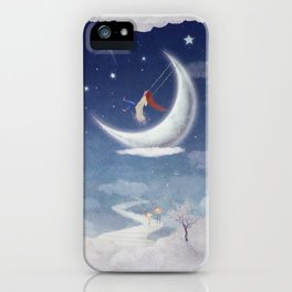 City of children on  fantastic clouds in the sky iPhone Case