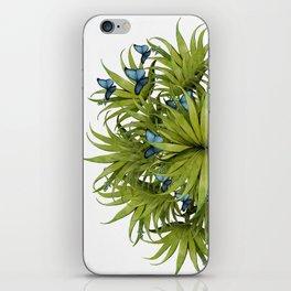 """El Bosco fantasy, tropical island blue butterflies 02"" iPhone Skin"