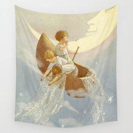 """Wynkin Blynkin and Nod"" by Margaret Tarrant Wall Tapestry"