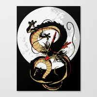 dragon ball Canvas Prints featuring Black Dragon by TxzDesign
