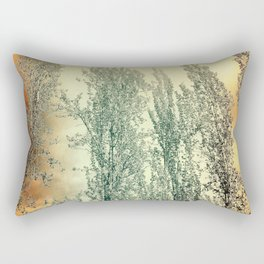 Autumn Poplars, Sunlight Dreaming About You Rectangular Pillow