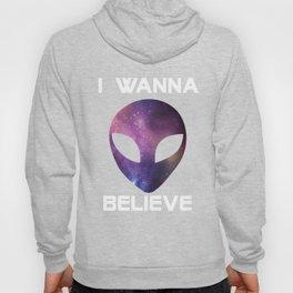 Alien I Wanna Believe Hoody