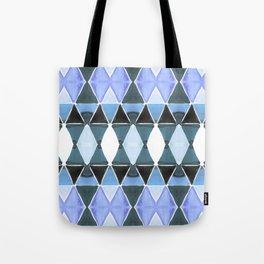 Art Deco Triangles Light Blue Tote Bag