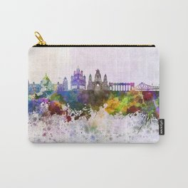 Kolkata skyline in watercolor background Carry-All Pouch
