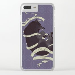 Running with wolves Clear iPhone Case