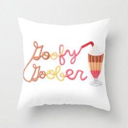 Goofy Goober Milkshake Throw Pillow