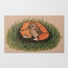 Fox & Owl Canvas Print