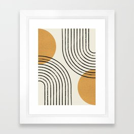 Sun Arch Double - Gold Framed Art Print