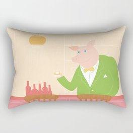 Pig's Bar Rectangular Pillow