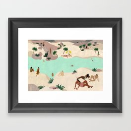 River in the Desert Framed Art Print
