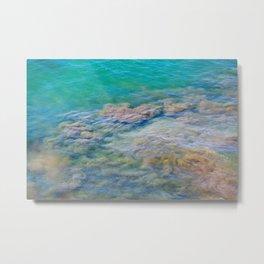 Underwater Sand Swirl Metal Print