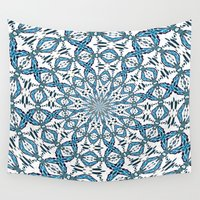 snowflake Wall Tapestries featuring Snowflake by Stay Inspired