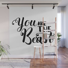 You Are The Best or Beast - Hand-drawn lettering inscription Wall Mural