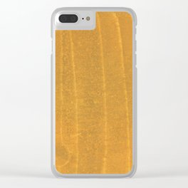 Dark yellow blurred watercolor pattern Clear iPhone Case