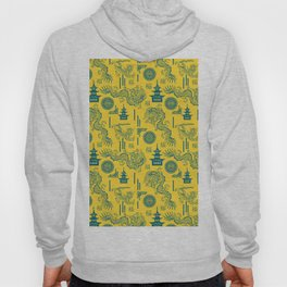 Yellow and Blue Chinoiserie Hoody