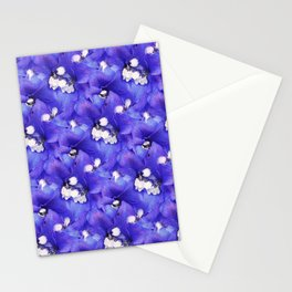 A Pattern of Intense Purple-Blue Delphinium Flowers Stationery Cards