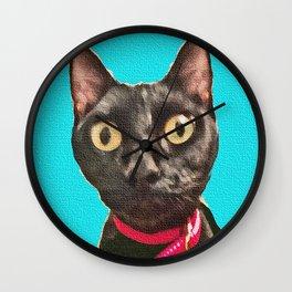 Kismet Kitty 2 Wall Clock
