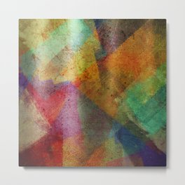 Colorful paint texture Metal Print