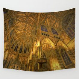 Golden Light Cathedral Wall Tapestry