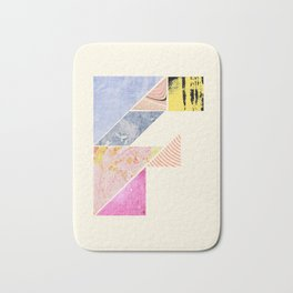 Collaged Tangram Alphabet - F Bath Mat