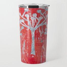 red dot tree forest Travel Mug
