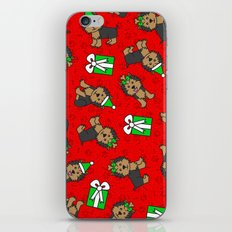 Merry Yorkies iPhone Skin