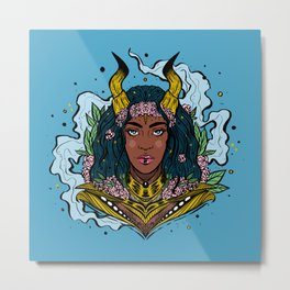 Warrior Queen, Variant I (Daily Sketch Series) Metal Print