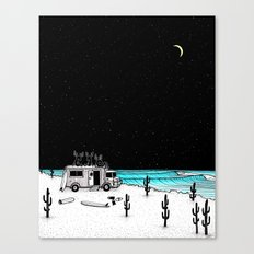 Moose Night Out Canvas Print
