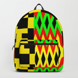 African Kente Cloth Fabric Pattern Backpack