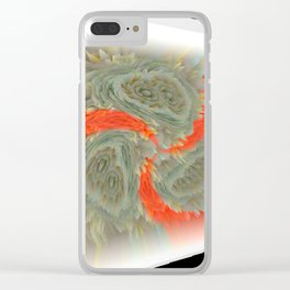 "Random 3D No. 72 ""Framed whirl"" Clear iPhone Case"