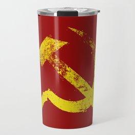 Used Communist Hammer Sickle Travel Mug