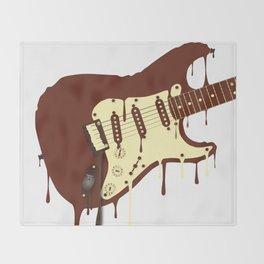Melting Chocolate Guitar Throw Blanket