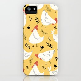 Lovely Little Hens iPhone Case