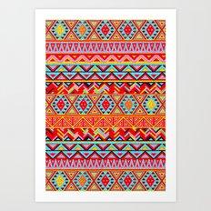 India Style Pattern (Multicolor) Art Print