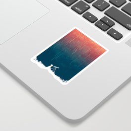 Meteor rain Sticker