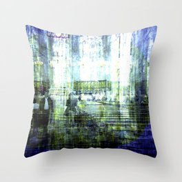 Each drop seemed meticulously dormant, pensive. Throw Pillow