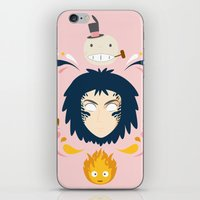 calcifer iPhone & iPod Skins featuring Howl by Ashley Hay