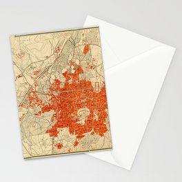 Map Of Aleppo 1929 Stationery Cards