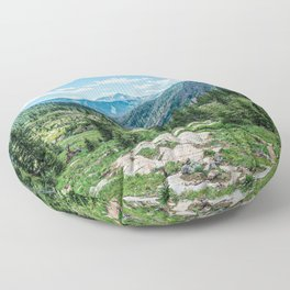 Colorado Wilderness // Why live anywhere else? Amazing Peaceful Scenery with Evergreen Dusted Hills Floor Pillow