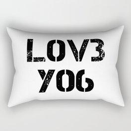 Love you typography white pattern Rectangular Pillow