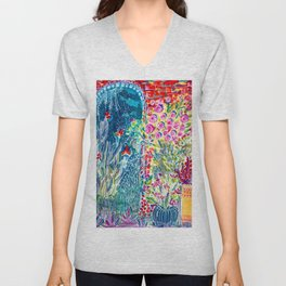 Inside the Garden of Good and Happy Unisex V-Neck