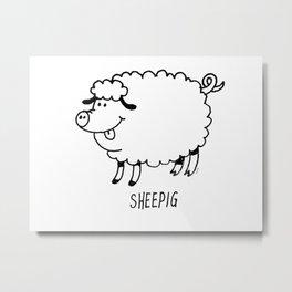 SHEEPIG Metal Print