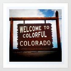 Colorful, Colorado Art Print
