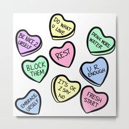 Self Love Valentine Candies Metal Print