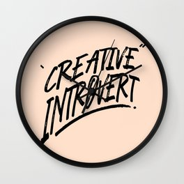 The Creative Introvert Wall Clock