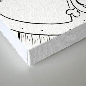 Robot Pirate - ink Canvas Print