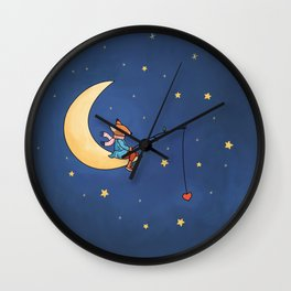 Pêcheur d'Etoile Wall Clock